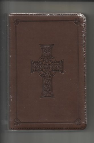 Chocolate Brown Imitation Leather ESV Compact Bible with Celtic Cross (Esv Cross Bible Celtic)