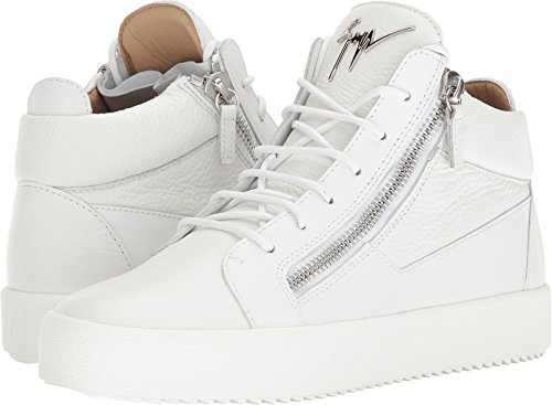 Giuseppe Zanotti Mens May London Sneaker Medio Tono Su Tono Bianco