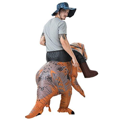 ETRECH Inflatable Dinosaur Costume Halloween Blow Up Costume Inflatable Costumes for Adult