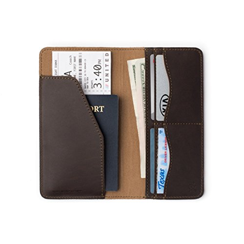 Saddleback Leather Co. Long RFID Slim Leather Bifold Wallet Includes 100 Year Warranty (Country Blazer Club)