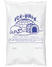 """Polar Tech IB6 Ice Brix Leakproof Viscous Gel Refrigerant Poly Pack, 4"""" Length x 6"""" Width x 3/4"""" Thick (Case of 48)"""