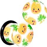 white 00 plugs - Body Candy 00G 2Pc Ear Plugs White Acrylic Pretty Pineapple Single Flare Ear Plug Gauges Set of 2 10mm
