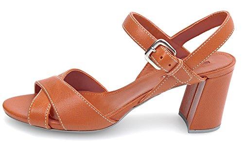 Prada Sandalia Papaya Código Papaya Naranja Mujer 39 Cuero 5 Zapatos Arancione 3XP003 rTx5ZrwR