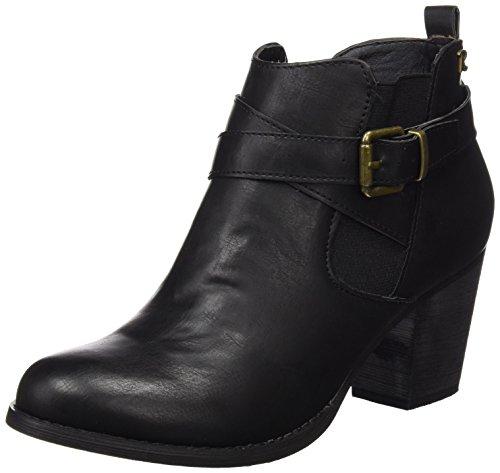 REFRESH Botin SRA C, Zapatos de Tacón para Mujer, Negro, 37 EU