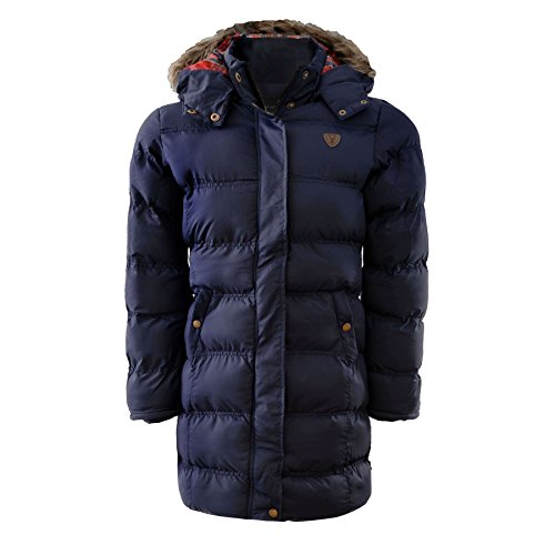 Price comparison product image Brave Soul Girls Fur Hooded Padded Winter Warm School Jacket Coat Years 7-13