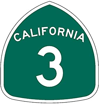 California State Route 3 Sticker Decal R998 Highway Sign Road Sign