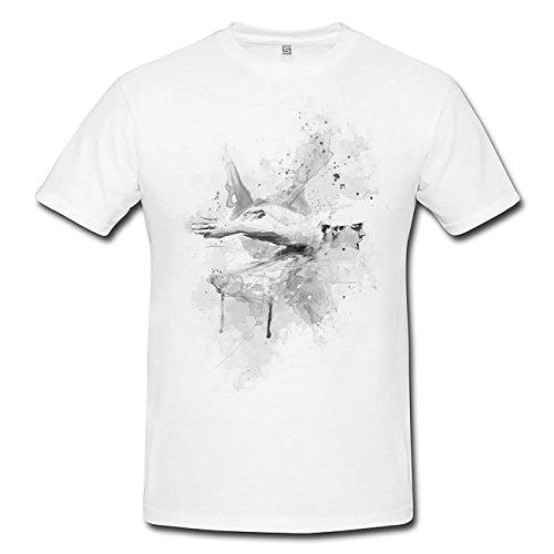 Schwimmen I T-Shirt Herren, weiß mit Aufdruck
