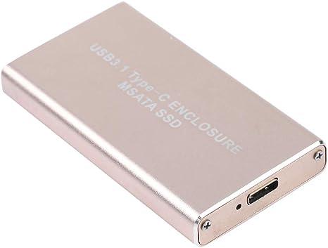 Acouto Type-C a la Caja de Disco Duro Externo MSATA HDD, USB3.1 ...