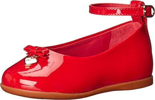 Dolce & Gabbana Kids Girls' Patent Leather Ballerina, Red, 20 (US 5 Toddler) M by Dolce & Gabbana