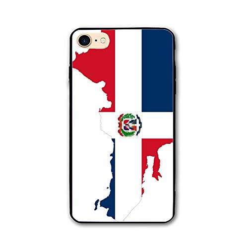 Phone 7/8 Plus Case Dominican Republic Map Flag Printed Hard PC Durable  Rubber Protective Case Tempering Cover Phone 8 Plus/Phone 7 Plus 4 7 inch