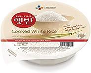 CJ Rice - Cooked White Hetbahn, Gluten-Free & Vegan, 7.4-oz (12 Count), Instant & Micro