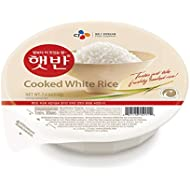 CJ Rice - Cooked White Hetbahn, Gluten-Free & Vegan, 7.4-oz (12 Count), Instant & Microwaveable