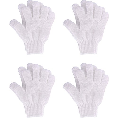4 Pairs Shower Gloves Scrubbing Gloves Dual-sided Exfoliating Glove Body...
