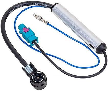 Phantomeinspeisung Antennenadapter Autoradio DIN 12V Verstärker VW SEAT AUDI MB