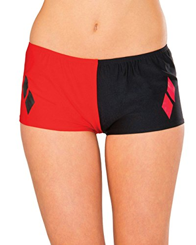 Harley Quinn Adult Size Women's 2-Tone Red Black Boy Shorts Costume Accessory