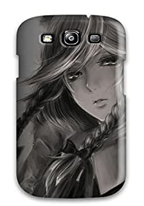 Ultra Slim Fit Hard Duvoody Case Cover Specially Made For Galaxy S3- Beautiful Anime Girl