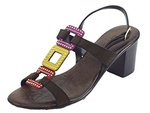 Moro Mercante Di T Sandals Women's Fashion Fiori Multi di qBW7B0zAf