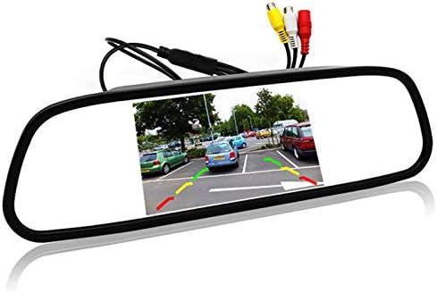 Noblik 5インチ デジタルカラーTFT 800 x 480液晶 カー パーキング ミラーモニター 2ビデオ入力 リアカメラと駐車支援システム用