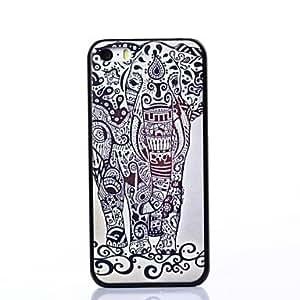 QJM Cool Elephant Pattern Plastic Hard Case for iPhone 5C