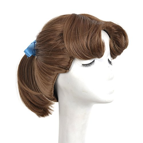 (Yuehong Princess Wig Brown Ponytail Cosplay Animation Wigs For Women Party Costume)