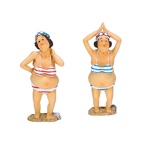 Old Lady Figurine - Beachcombers SS-BCS-02927 Old Ladies Standing Figurine (Set of 2)