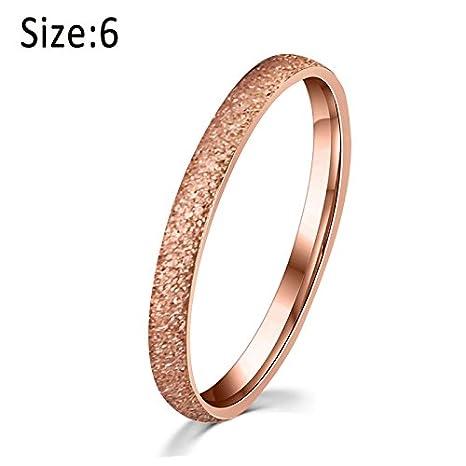 symboat mujeres dedo anillo titanio acero rosa oro mate givr ¨ ¦ de boda anillos de