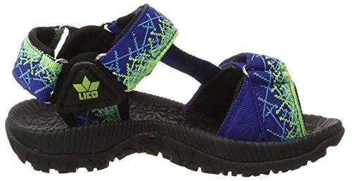 Lico Samoa V - Zapatillas de Trekking y Senderismo de Media Caña Niños Blau (ROYALBLAU/LEMON)