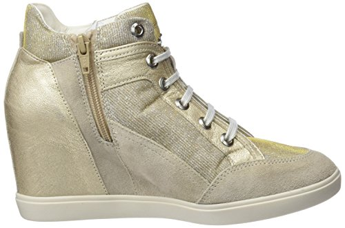 Geox Dame D Eleni C Hohe Sneaker Beige (lt Taupe / Bly) DKDyDins