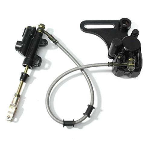 Rear Master Cylinder Caliper Assembly for 50cc 70cc 90cc 110cc 125cc 15OCC Coolster SDG SSR 107 110 1 BK12 Dirt Bike Pit Bike Quad