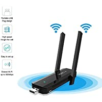 ANYQOO USB WiFi Range Extender / Signal Booster N300 USB-Plug Version Wireless USB WIFI Repeater (Extend dual band WiFi up to 300Mbps)