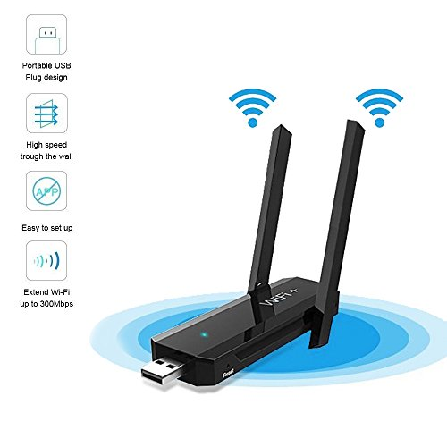 ANYQOO USB WiFi Range Extender/Signal Booster N300 USB-Plug Version Wireless USB WIFI Repeater (Extend dual band WiFi up to 300Mbps) by ANYQOO