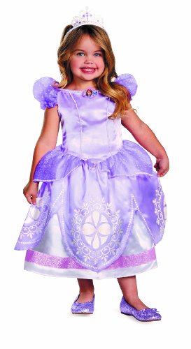 [Disguise Girl's Disney The First Sofia Deluxe Costume, 3T-4T] (Sofia The First Dress Up Costume)