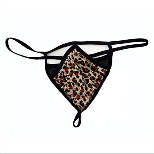 eopard underwear Lace funnyy slim Fit T Panties Micro G-String Pants funnyy female cloths,Leopard,One Size ()