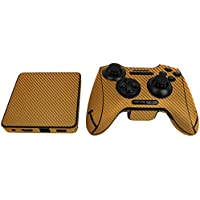 Skinomi TechSkin - Razer Forge TV Gold Carbon Fiber Full Body Skin Protector / Front & Back Wrap / Premium HD Clear Film / Ultra Invisible and Anti-Bubble Shield