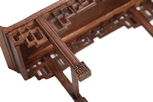 Chino expositor Altar Shen Tai tallada soporte de madera maciza de ...