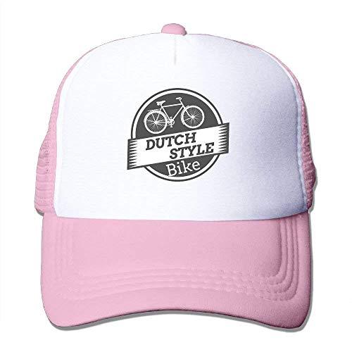 Dutch Denim Von (Dutch Style Bike Adjustable Printing Snapback Mesh Hat Unisex Adult Baseball Mesh Cap)