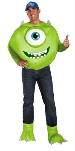 (Mike Wazowski Deluxe Adult Costume -)