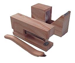 Stationery Set Wood Print - Stapler, Tape Dispenser & Staple Remover)