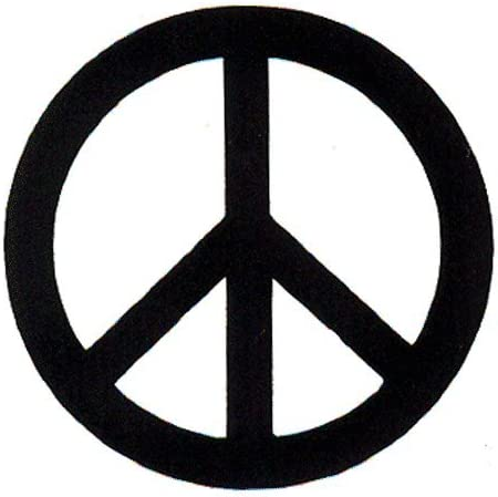 """Amazon.com: Peace Resource Project Black Over White Peace Sign - Small  Bumper Sticker or Laptop Decal (3"""" x 3""""): Automotive"""