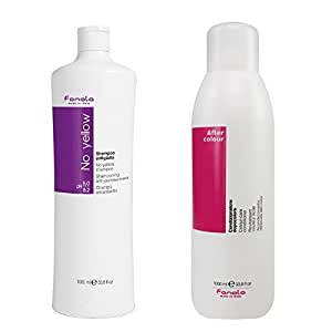 Fanola No Yellow Shampoo Packages (1000 ml + After Color Conditioner)