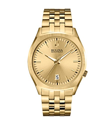 Bulova Men's 97B134 Quartz Gold-Tone Bracelet 41mm Watch (Renewed)
