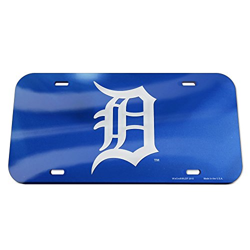 - WinCraft MLB Detroit Tigers Crystal Mirror Logo License Plate, Team Color, One Size