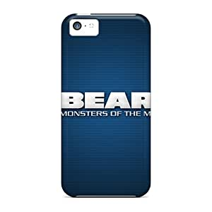 Anti-Scratch Hard Phone Cases For Iphone 5c (ytn13020CEpR) Custom Lifelike Chicago Bears Pictures