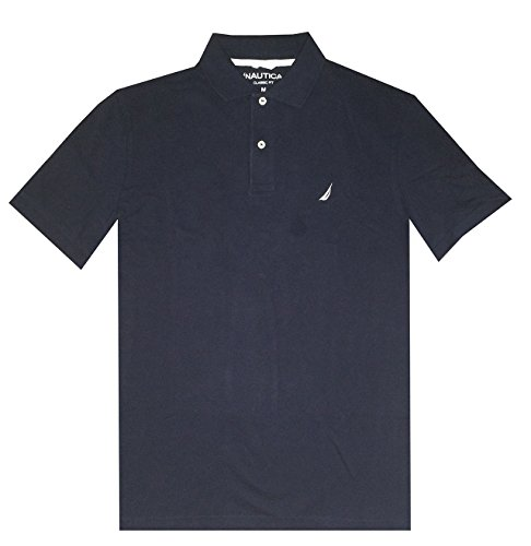 NAUTICA Men Classic Fit Polo Pique T-Shirt (L, (Collar Pique Polo Shirt)