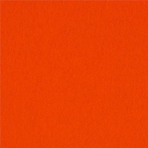 60'' Wide Sweater Fleece Blaze Orange Fabric By The Yard - Blaze Orange Polar Fleece