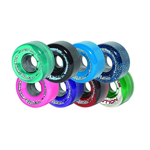 Sure-Grip Motion Outdoor Quad Roller Skating 62mm Clear
