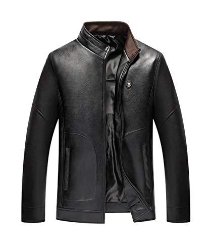 Noir Leather Jacket Pu couleur Men Zjexjj Taille Loose L 7YZxgqYw5