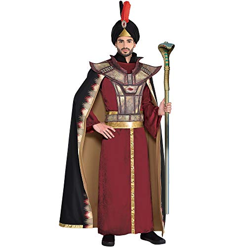 Party City Jafar Halloween Costume for Men, Aladdin Live-Action, Standard, with (Male Halloween Costumes Party City)
