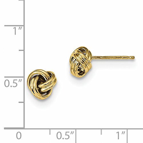 ICE CARATS 10k Yellow Gold Love Knot Post Stud Ball Button Earrings Fine Jewelry Gift Set For Women Heart by ICE CARATS (Image #2)