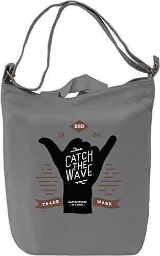 Catch the wave Borsa Giornaliera Canvas Canvas Day Bag| 100% Premium Cotton Canvas| DTG Printing|